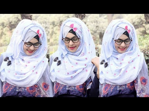 Spectacles / Glass Hijab Tutorial for School/College/University Class