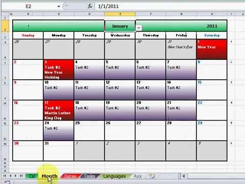 Mi nuevo calendario con eventos y tareas - YouTube