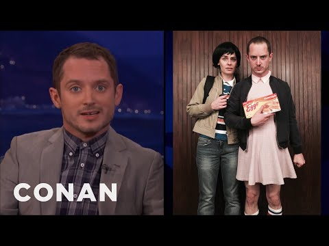 Elijah Wood Dressed Up As Eleven For Halloween   CONAN on TBS
