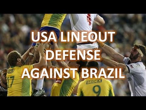 USA Lineout Defense v Brazil
