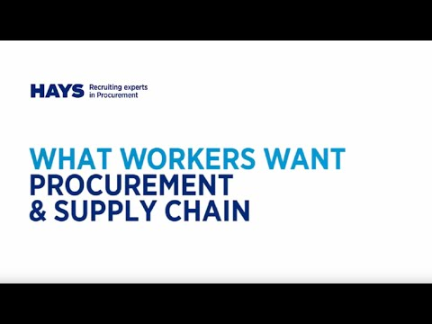 What Do Professionals in Procurement, Manufacturing and Logistics Want?