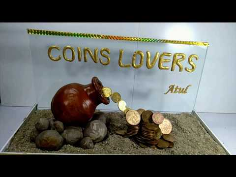 Fountain Art with Coins