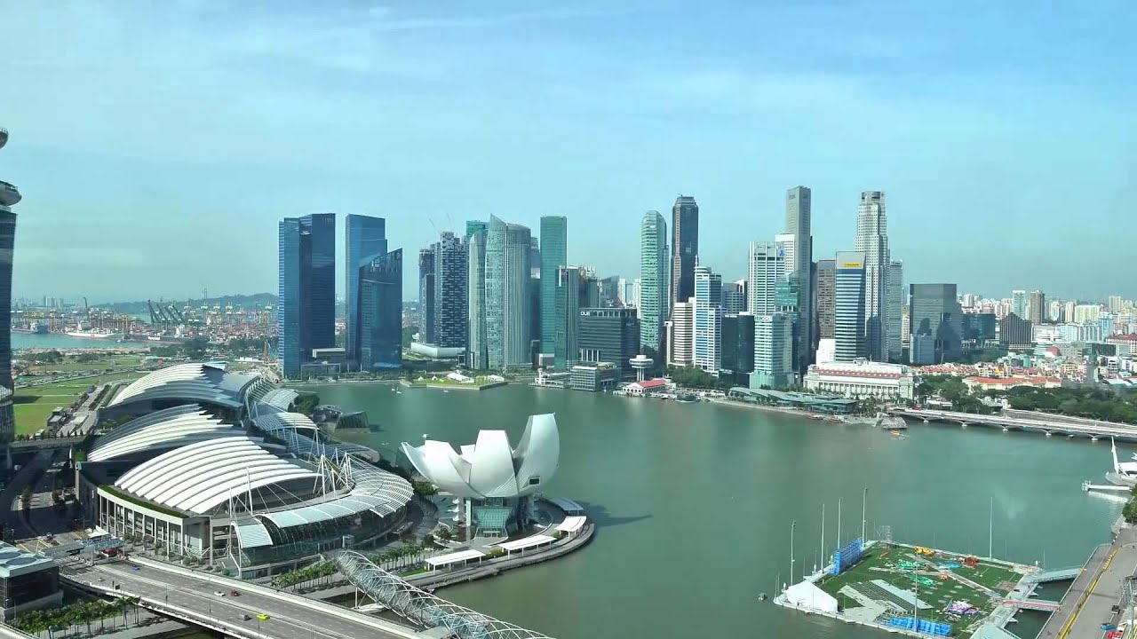 Singapore Flyer - View from inside the capsule - YouTube