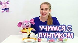Учимся с Лунтиком   Посуда и распаковка шоколадных яиц с сюрпризом