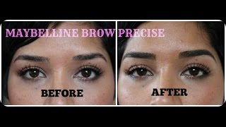 Maybelline Brow Precise Shaping Pencil Review and Demo