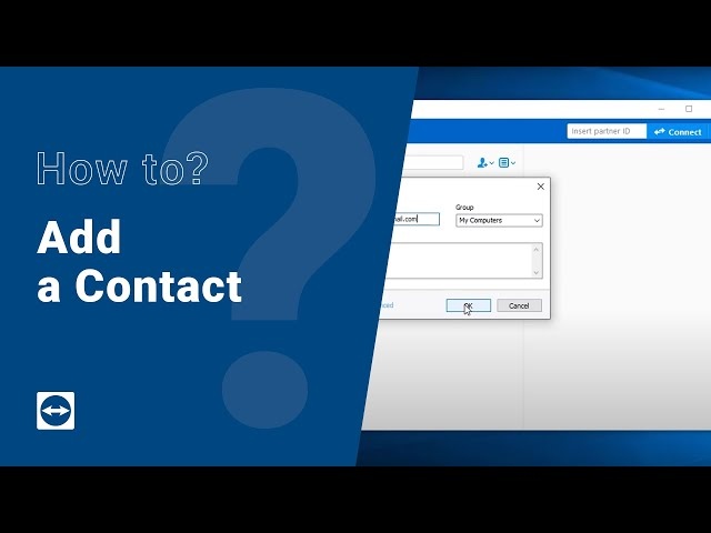 How to: Add a contact