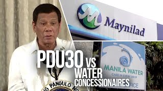 24 Oras: Duterte threatens water firms: I will arrest you