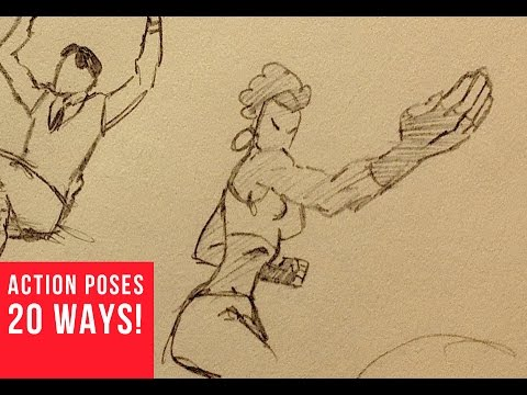 20 Ways Drawing Dynamic Action Poses Youtube