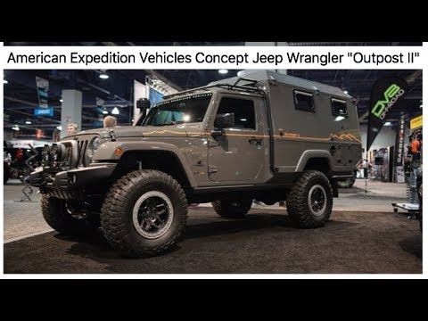 "The coolest Jeep at SEMA - AEV concept Jeep ""OUTPOST II"" : SEMA 2017"