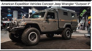sneak peek of the coolest Jeep at SEMA - AEV concept Jeep