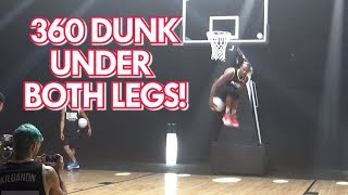 "INSANE DUNK 360 UNDER BOTH LEGS by 6'2"" Chris Staples Dunk League 2 Champion Video"