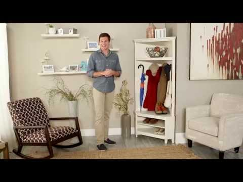 Belham Living Richland Corner Hall Tree Antique White Product Review Video You