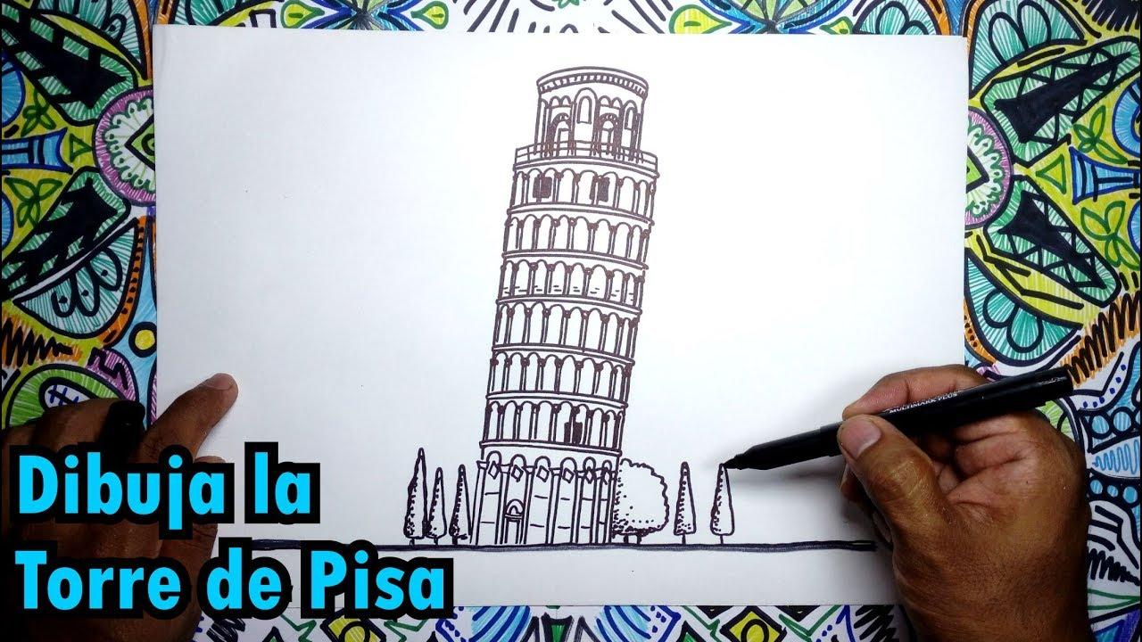 Aprende A Dibujar La Torre De Pisa En Italia Pasos Fáciles