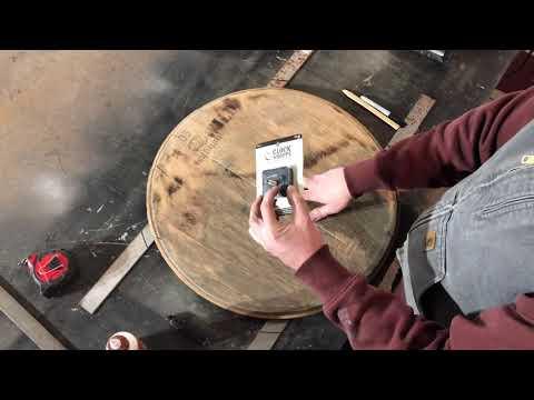DIY wine barrel clock part 1