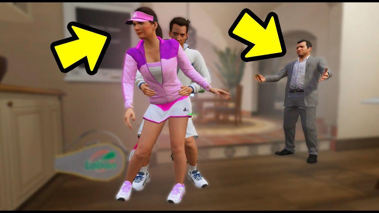 Qual A Reao Do Michael Ao Ver Amanda Com Tenista Gta 5 -8008