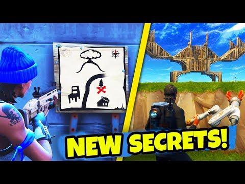 *SECRET* TREASURE MAP & MORE NEW EASTER EGGSSECRETS in Fortnite: Battle Royale! NEW Season 3