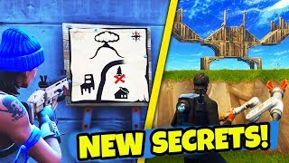 5+ NEW EASTER EGGS & SECRETS in Fortnite: Battle Royale! (NEW Season 3 Easter Eggs)