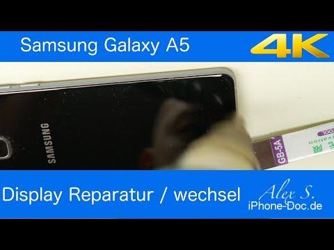 samsung Galaxy A5 2016 display wechseln Reparatur 4k deutsch