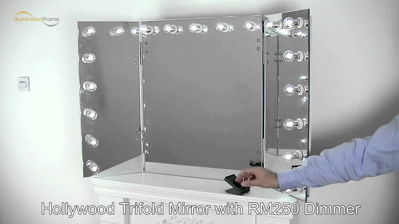 Hollywood Trifold Mirror By Grand Mirrors Lighted Mirrors