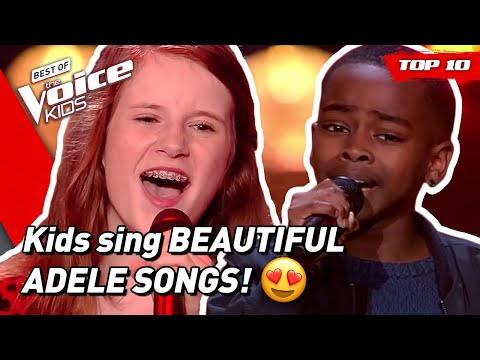 TOP 10   Would ADELE Turn For These Young Singers In The Voice Kids? 😍