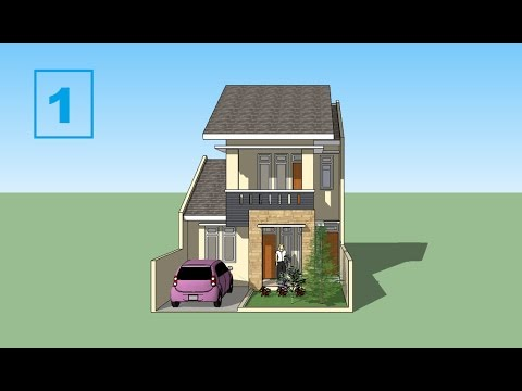 Sketchup tutorial house minimalis design Part 1 YouTube