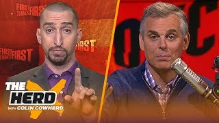 Nick Wright disagrees with Colin's MVP pick, talks Lakers staying with Luke Walton | NBA | THE HERD