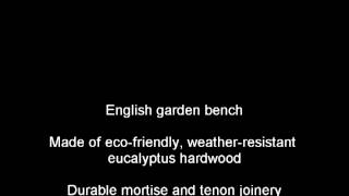 Lutyens Eucalyptus English Garden Bench -- Green