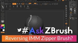 "#AskZBrush: ""How can I reverse the IMM Curve Zipper Brush?"""