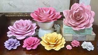 DIY Easy Paper Roses, any size, no templates needed!