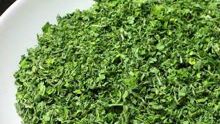 Kasuri Methi Recipe without Microwave/Original Green Kasuri Methi - How to make Kasuri Methi at Home