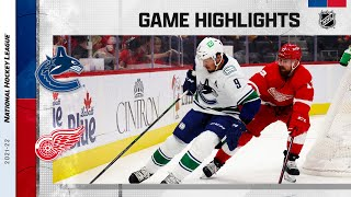 Canucks @ Red Wings 10/16/2021 | NHL Highlights