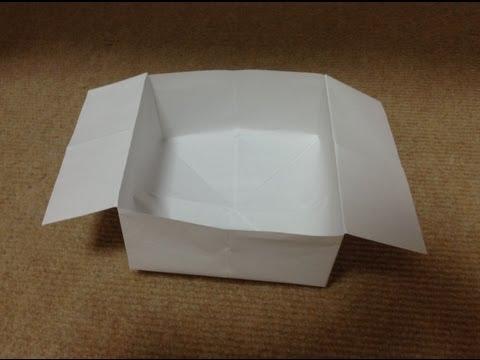 折り方 折り紙四角箱折り方 : 折り紙 ゴミ箱 折り方 作り方
