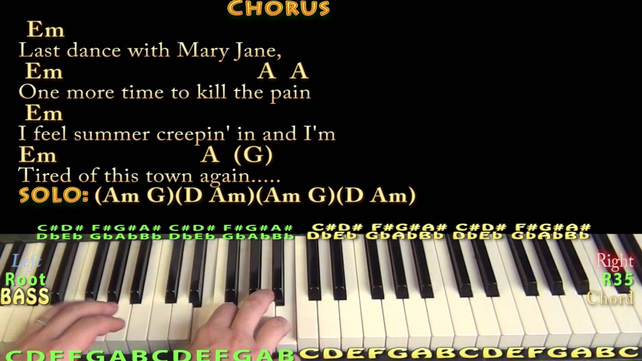 Mary janes last dance tom petty piano cover lesson with chords mary janes last dance tom petty piano cover lesson with chordslyrics hexwebz Images