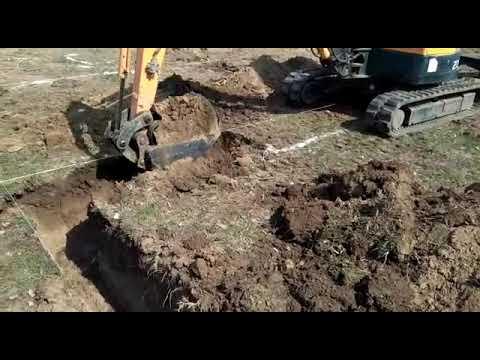 Фундамент траншеи мини экскаватор