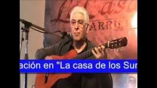 """Jorge Viñas """"Elegante y bien cuyano"""" gato por su autor en solo de guitarra"""