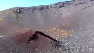 火星のような富士山宝永噴火口