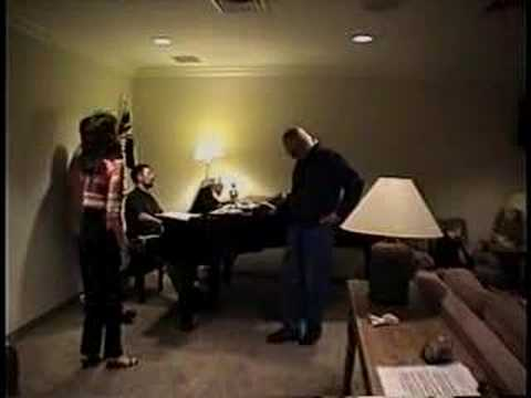 Tinatin rehearsing with Alan Bergman