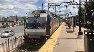 NJ Transit HD 60fps: Bombardier ALP-45DP Mode Change on Train 854 @ Dover (5/24/19)