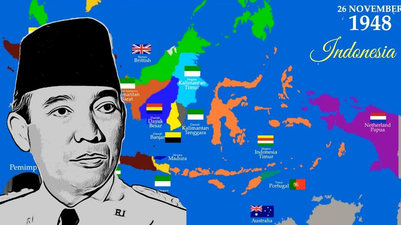 Peta Sejarah Republik Indonesia Serikat History Map Timeline United States Of Indonesia Youtube