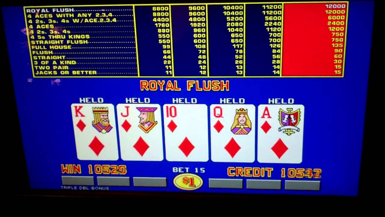 What is royal flush in video poker catalogue jouet geant casino noel 2014