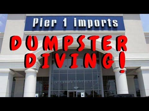 JACKPOT ! Dumpster Diving At Pier 1 Imports + Kirklands (Caught Again) - Dumpster Dive Night #37