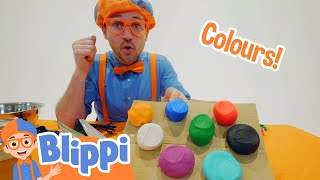Blippi Arts And Crafts Clay and Play For Kids   Educational Videos For Toddlers