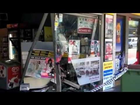 Car crashed into newsagency in Bondi Road, Bondi, Sydney 19 October 2011