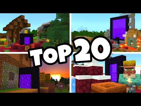 Top 20 Ruined Portal Village Seeds For Minecraft 1 16 Bedrock Edition Pe Xbox Ps4 Switch W10 Youtube