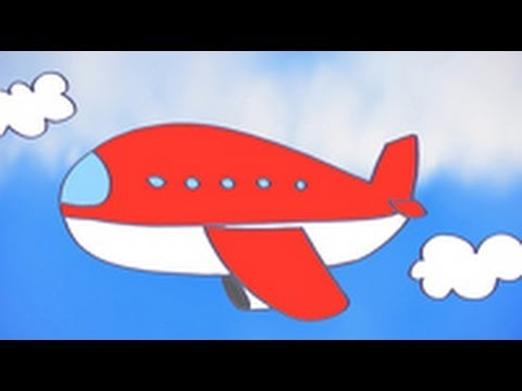 Dibujos de transportes para nios Cmo dibujar un avin  YouTube