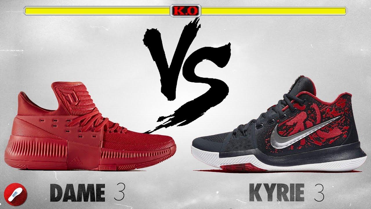 best cheap cf385 34591 Adidas Dame 3 vs Nike Kyrie 3!
