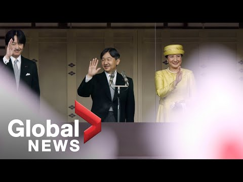 Emperor Naruhito greets public for first time since May 1 en