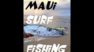 fun maui surf fishing on light line