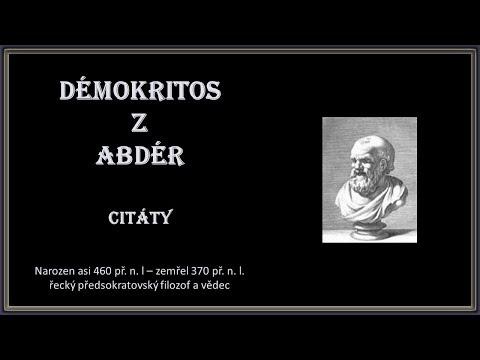 Démokritos z Abdér - citáty; Hudba: Kevin Kern - Cauldron Of Healing xvid