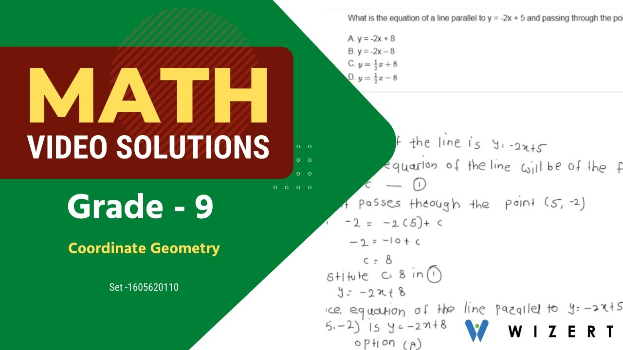 hight resolution of Grade 9 Math Tests - Maths Coordinate Geometry worksheets for Grade 9 - Set  1605620110 - YouTube